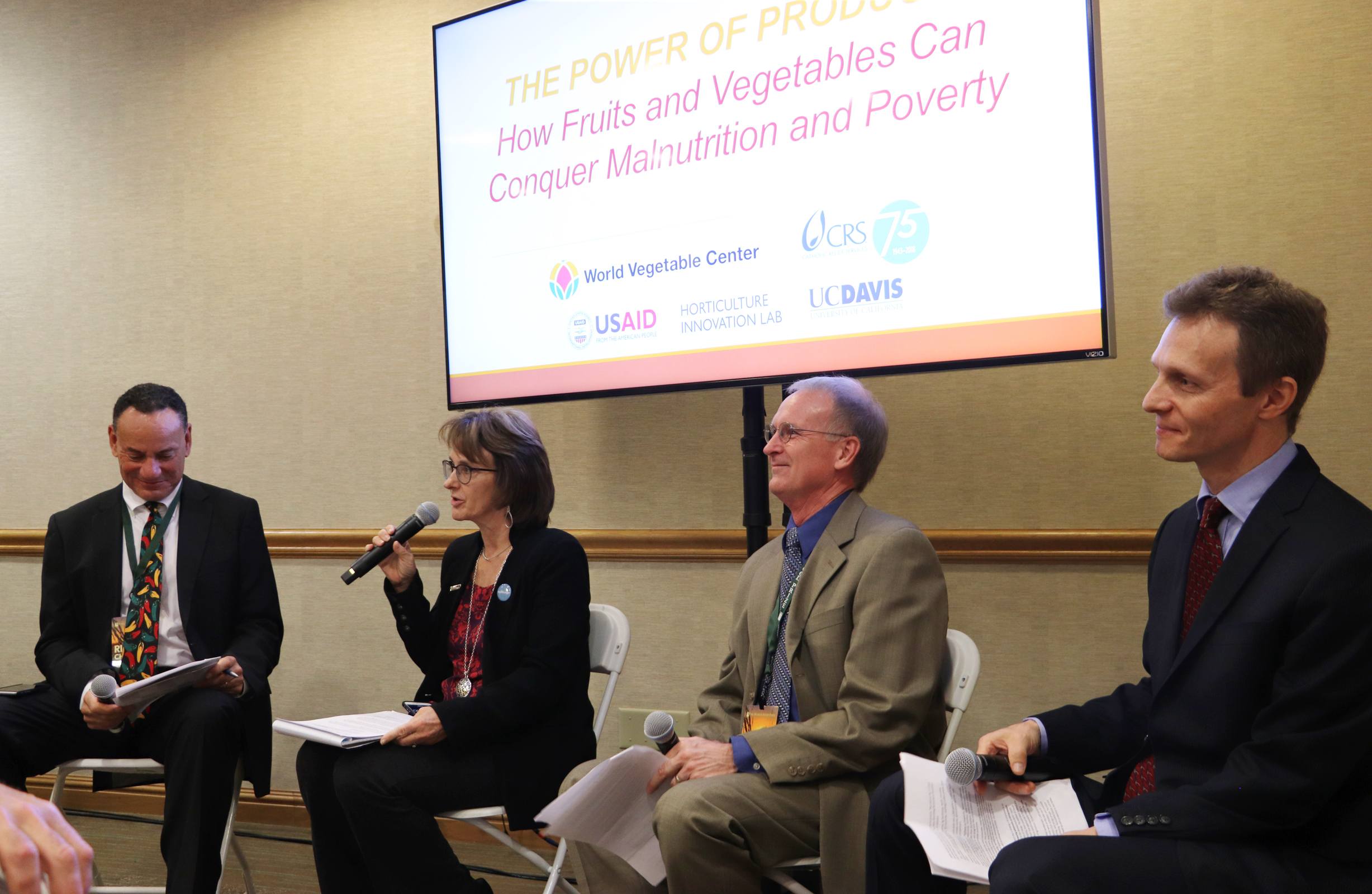 panelists at Power of Produce conference: How fruits and vegetable can conquer malnutrition and poverty