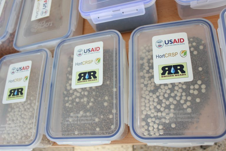 drying bead boxes with seed