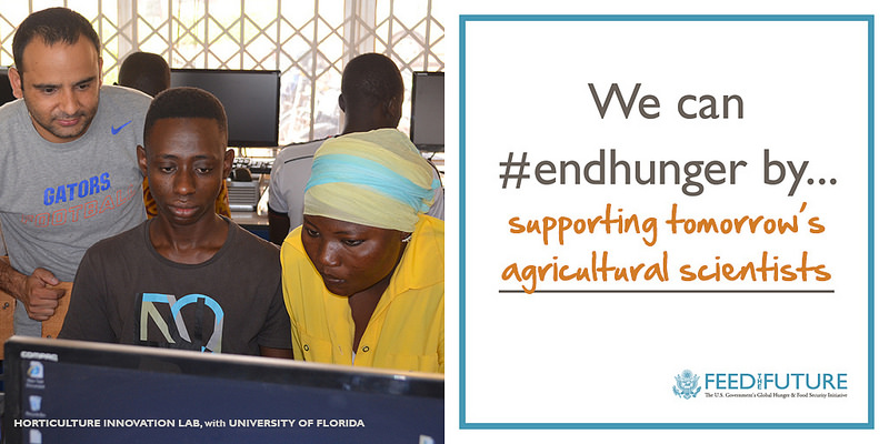 We can #endhunger by supporting tomorrow's agricultural scientists