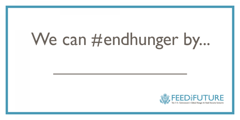 We can #endhunger by ...