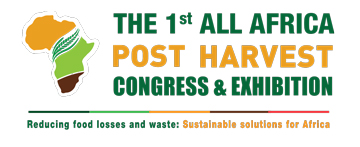 """THE 1ST ALL AFRICA POSTHARVEST CONGRESS & EXHIBITION, Reducing food losses and waste: Sustainable solutions for Africa"" logo"