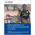 USAID report cover with Guinean woman farmer showing vegetables in solar dryer