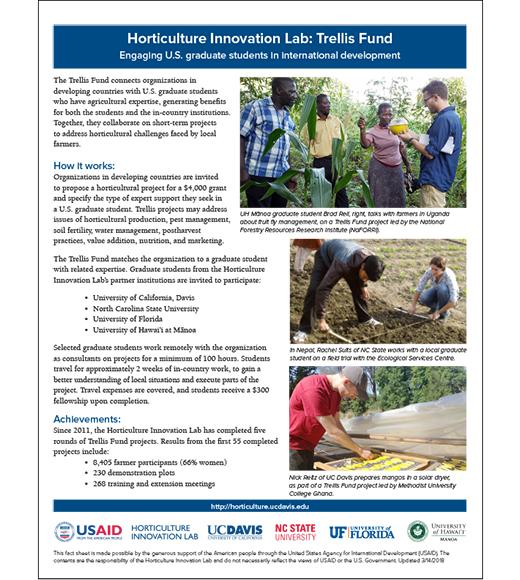 Fact sheet - Trellis Fund engages graduate students in international development