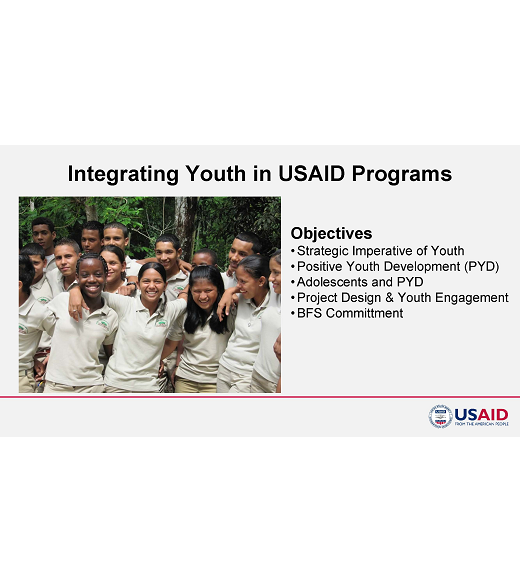 Title Slide from Integrating Youth in USAID programs