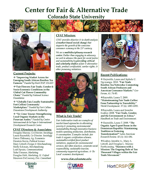 Center for Fair & Alternative Trade poster