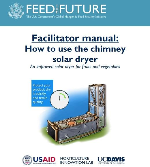 Front cover: Facilitator manual: How to use the chimney solar dryer