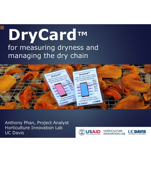The title slide from DryCard for measuring dryness and managing the dry chain presentation