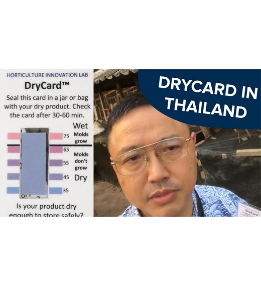 "Left: photo of drycard, right: photo of speaker leung with words ""drycard in thailand"""