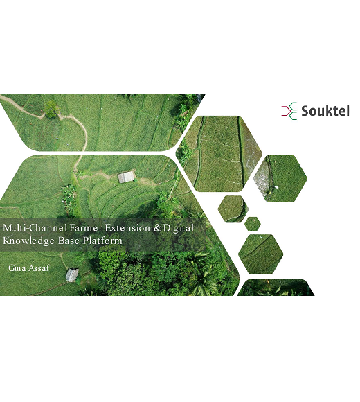 title slide: Souktel- Multi-Channel Farmer Extension & Digital Knowledge Base Platform