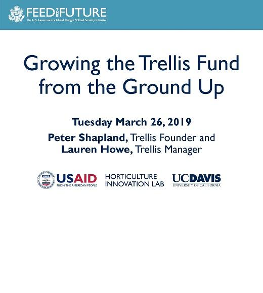 Title slide from Growing the Trellis Program from the Ground Up presentation