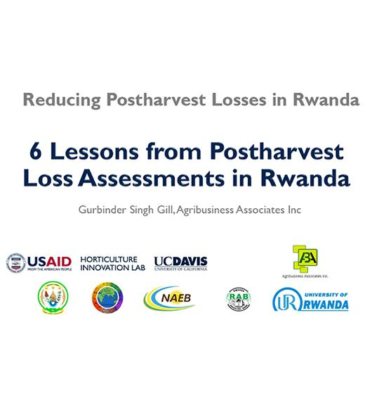 6 Lessons from Postharvest Loss Assessments in Rwanda - title slide
