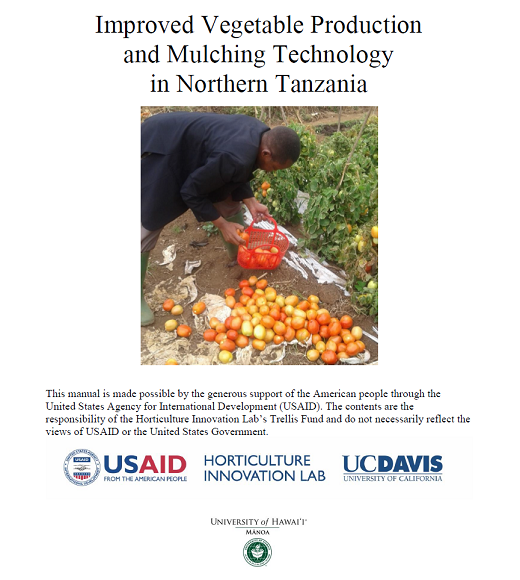 Improved vegetable production and mulching technology cover