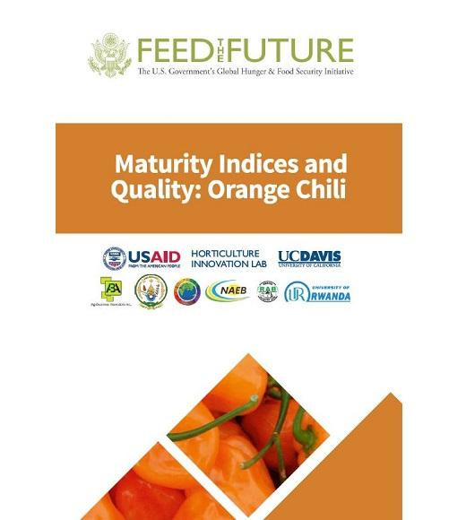 Maturity indices and quality: orange chili-cover