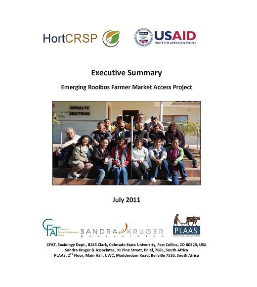 Rooibos farmer market access project executive summary front page