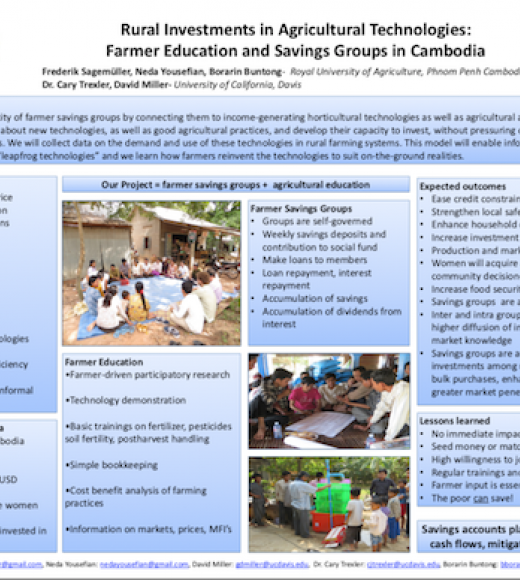 Rural investments in agricultural technologies: Farmer education and savings groups in Cambodia