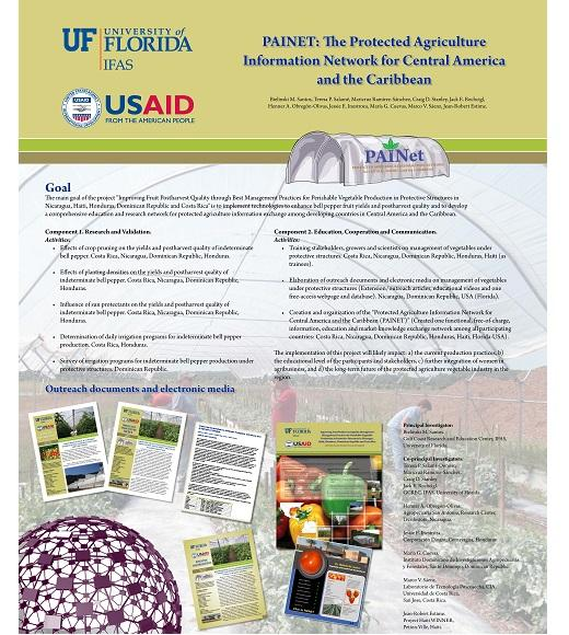 Protected Agriculture Information Network (PAINNET) for Central America and the Caribbean poster