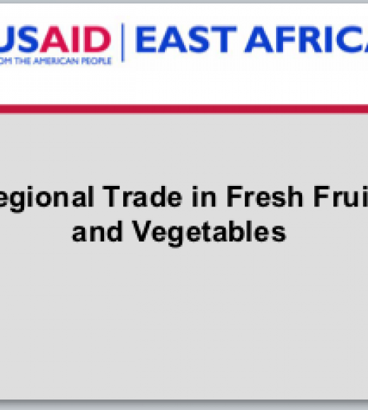 Regional Trade in Fresh Fruit and Vegetables in East Africa