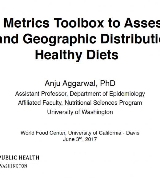 A new metrics toolbox to assess the cost and geographic distribution of healthy diets - title slide