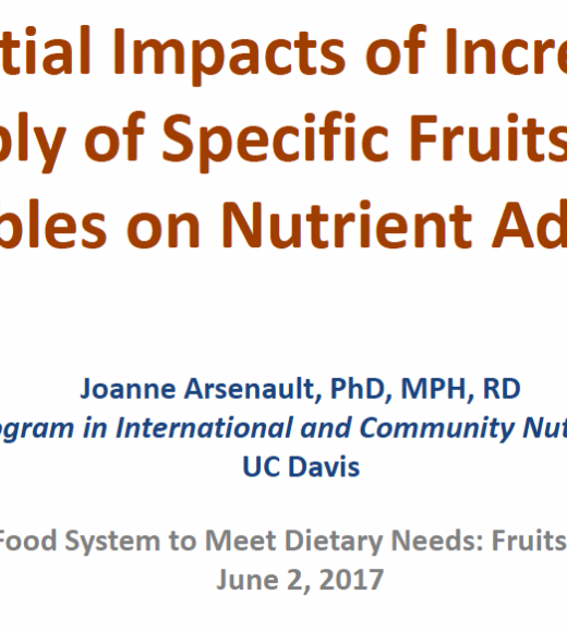 Potential impacts of increasing supply of specific fruits and vegetables on nutrient adequacy - title slide