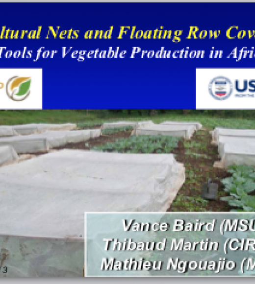 Agricultural nets and floating row covers: New tools for vegetable production