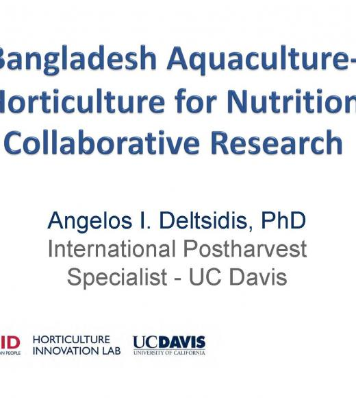 title slide: Bangladesh Aquaculture-Horticulture for Nutrition Collaborative Research