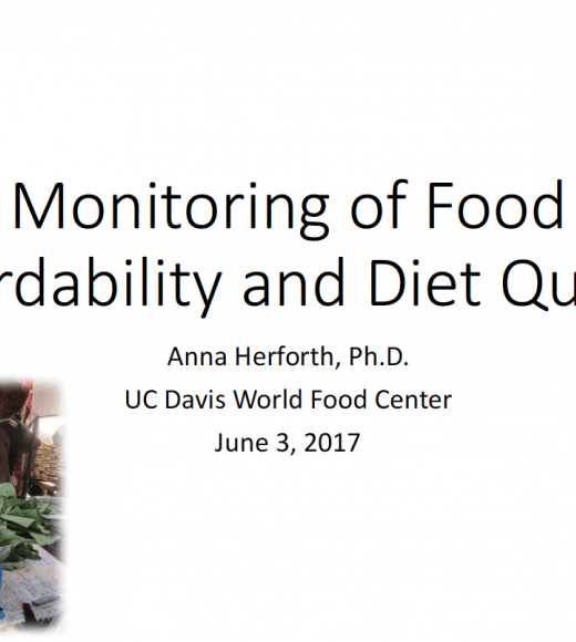 Monitoring of food affordability and diet quality - title slide