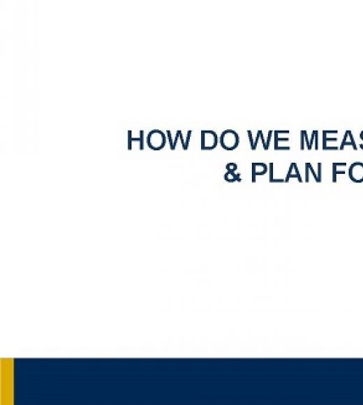 """HOW DO WE MEASURE PROGRESS AND PLAN FOR IMPACT"" title slide"