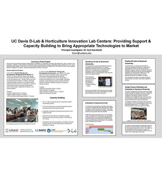 Poster: 2014 Project update: UC Davis D-Lab and Horticulture Innovation Lab Regional Center partnership
