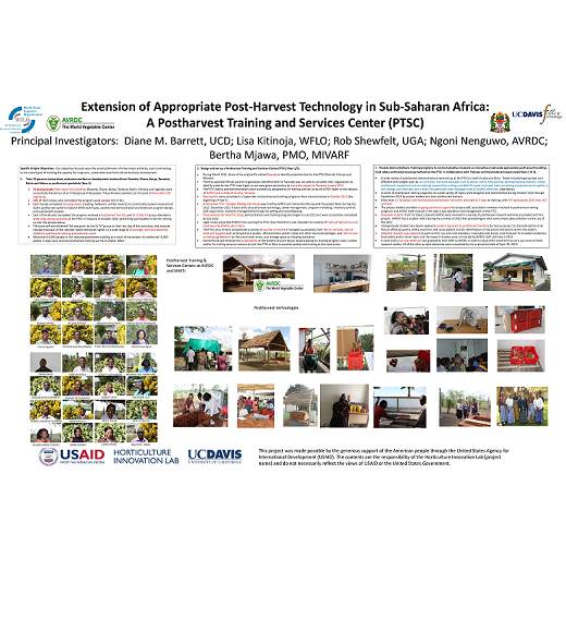 Poster: Opening a regional postharvest training and services center in Tanzania