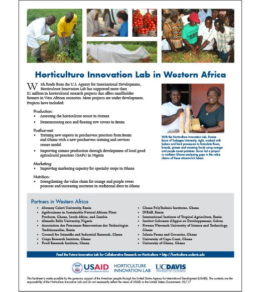 Fact sheet: Horticulture Innovation Lab in Western Africa