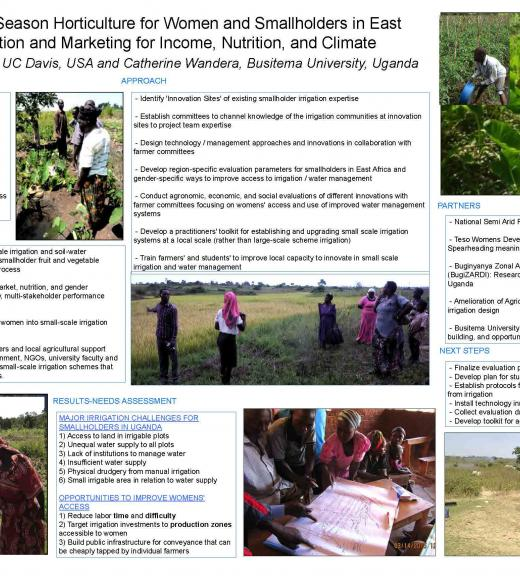Poster: Innovations in Dry Season Horticulture for Women and Smallholders in East Uganda