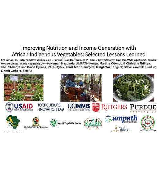 Title slide from Improving Nutrition and Income Generation with African Indigenous Vegetables
