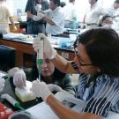 Women doing scientific laboratory work