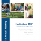 Horticulture CRSP 2013 annual meeting program