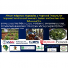 Title slide: African indigenous vegetables, a neglected treasure, for improved nutrition and income in eastern and southern Sub-Saharan Africa