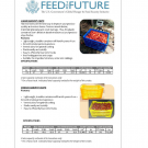 The first page of the crates fact sheet with a detailed description of the large crate and pictures of produce being transported in crates