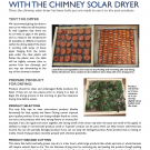 Drying Fruits and Vegetables with the Chimney Solar Dryer Cover