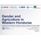 Title slide: Gender and agriculture in Western Honduras: lessons from the women in agriculture network Honduras project