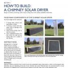 How to Build a Chimney Solar Dryer Cover