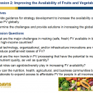Introduction to session 2 - Improving the availability of fruits and vegetables - Title slide