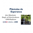 """Plántulas de Esperanza, Jim Nienhuis, Dept. of Horticulture, UW-Madison"" title slide"
