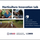 Horticulture Innovation Lab Regional Centers presentation