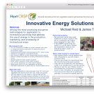 Innovative energy solutions for horticulture