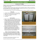 Seed germination cabinet fact sheet