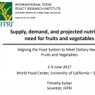 Supply, demand, and projected nutritional need for fruits and vegetables Susler - title slide