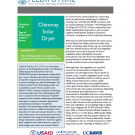 Chimney solar dryer: Gender and nutrition technology profile cover