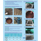 poster - images of compost, dried leaves, earth worms, soil for vermicompost directions