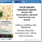 Nutrition Innovation Lab findings- Uganda