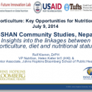 Nutrition Innovation Lab findings- Nepal