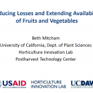 Slides: Reducing losses and extending availability of fruits and vegetables - title slide